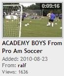 ACADEMY BOYS From Pro Am Soccer