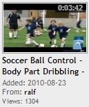 Soccer Ball Control - Body Part Dribbling